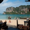 Railay Beachside Restaurant Photo: A beachside restaurant on West Railay beach at the Railay Bay Resort & Spa.