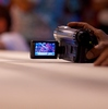Muay Thai Ringside Photo: A ringside video camera captures the action at a muay thai boxing match at MBK.