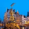 Antwerp Grote Markt Square Photo: The Brabo statue fountain and the Church of Our Lady in Antwerp's Grote Markt square (ARCHIVED PHOTO on the weekends - originally photographed 2010/03/25).