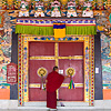 Rumtek Monastery Photo: A monk locks the doors of the Rumtek Monastery in Sikkim, India (ARCHIVED PHOTO on the weekends - originally photographed 2008/01/12).