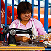 Street Sewing Photo: One of many curb-side sewing services offered around Bangkok.
