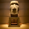 Fame-Chasers Photo: A Moai exhibited in a neglected section of the Louvre Museum.