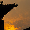 Silhouette Sunset Photo: The eaves of a typical Chinese building silhouetted against a sunset sky (ARCHIVED PHOTO on the weekends - originally photographed 2007/06/23).