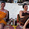 Beach Beers Photo: A pair of lovely Italian travelers relax at a beach cafe on Ko Lipe in Thailand (ARCHIVED PHOTO on the weekends - originally photographed 2010/02/25).