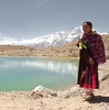 Traveling Tibetans Photo: Tibetan pilgrims walk around a holy lake above Dhankar, a small village among the Himalayas (ARCHIVED PHOTO on the weekends - originally photographed 2009/06/07).