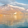 Black Chicken Photo: A subdued Annecy Lake and the nearby mountains during the middle of autumn.