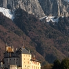 photo: Fairy-Tale Fort - The Chateau Menthon-Saint-Bernard backed by the cliffs and peaks of the French Alps.