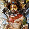 Mega Mosaic 2011 Photo: A photo mosaic of a Papua New Guinea tribesman.